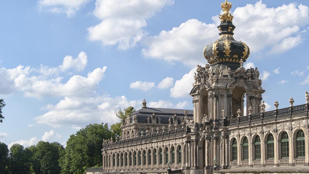 Blick auf das Kronentor des Dresdner Zwingers
